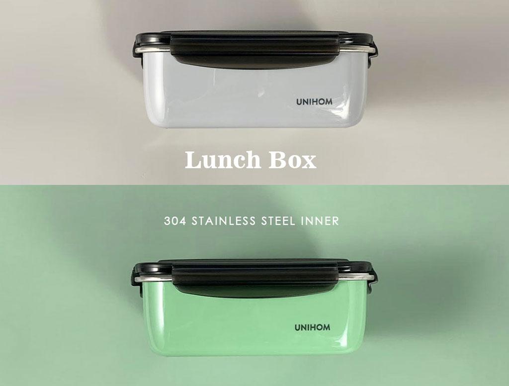 Unihom Lunch Box Green Grey